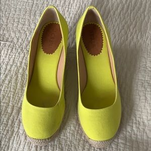 J Crew wedge canvas shoes
